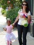 Kristin Davis out in LA with daughter Gemma at ballet class