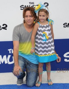 Larry Birkhead and his daughter Dannielynn at the Smurfs 2 premiere