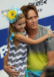 Larry Birkhead with his daughter Dannielynn at the Smurfs 2 premiere
