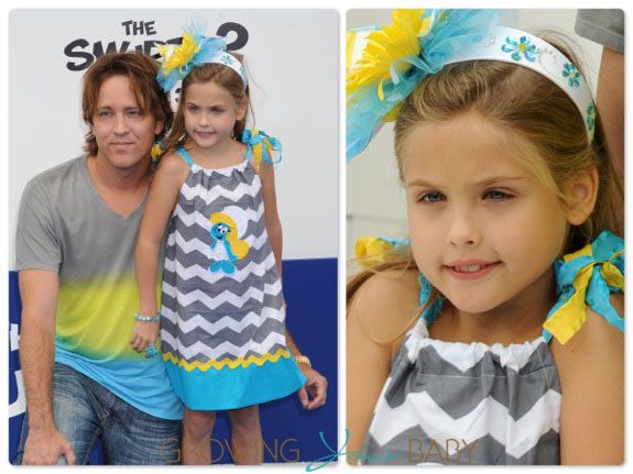 Larry and Dannielynn Birkhead at the Smurfs2 premiere in LA