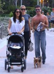 Lauren Silverman and Simon Cowell stroll with their son Eric