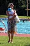 Lauren Silverman with son Eric Cowell in Sardina