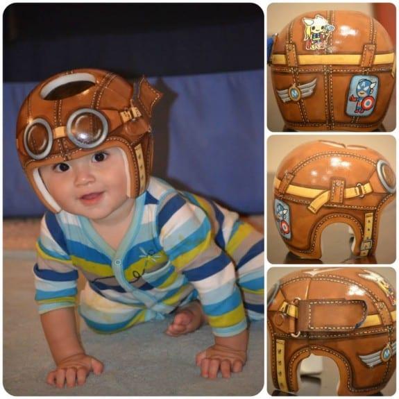 Lazardo Art custom baby helmet painting
