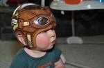 Lazardo Art custom baby helmet painting - airforce pilot