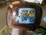 Lazardo Art custom baby helmet painting - minion