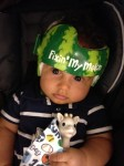 Lazardo Art custom baby helmet painting - watermellon