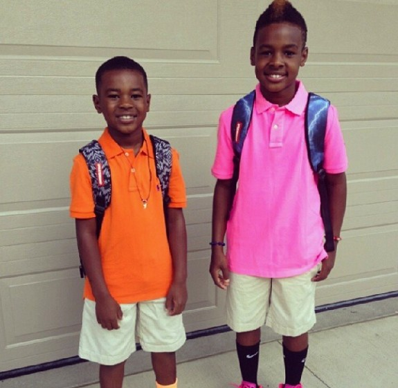 LeBron James Jr. and Bryce Maximus
