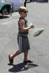 Liam McDermott at the Malibu market