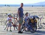 Liev Schreiber and Naomi Watts with sons Samuel & Sasha Schreiber at the beach in LA