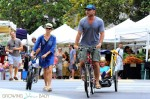 Liev Schrieber and Noami Watts at the Brentwood Market with their kids