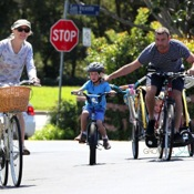 Naomi Watts and Liev Schreiber Bike With Their Boys