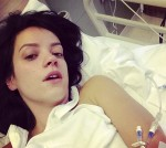 Lily Allen in hospital