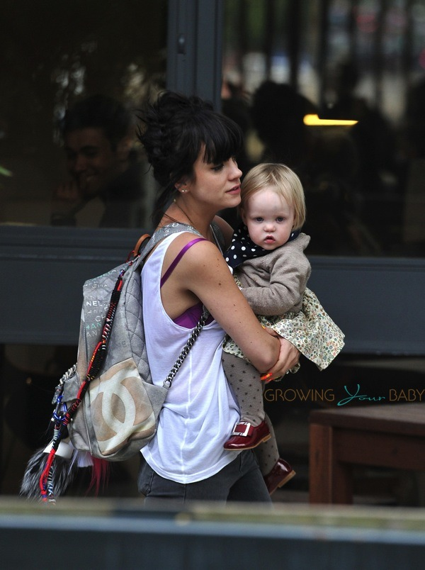 Lily Allen out in London with daughter Marnie Rose Cooper ...