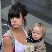 Lily Allen's Girls Join Her At ITV Appearance