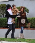 Lindsey Price and Curtis Stone out for Halloween with their son Hudson