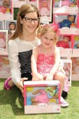 Lisa Loeb & daughter Lyla at the Corolle Event at the Grove LA