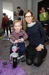 Lisa Loeb with her son Emet at Santas Workshop