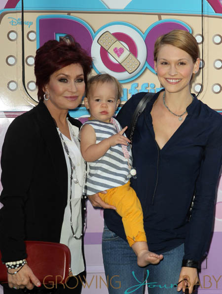 Lisa Stelly, Pearl Osbourne and Sharon Osbourne at Doc McStuffins event in LA