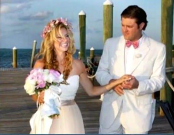 Liz and Bryan Mitchell at their wedding