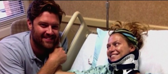 Liz and Bryan Mitchell in the hospital