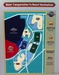 Loews Royal Pacific Resort - Water Taxi Map