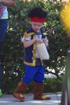 Luca Comrie dressed up as a pirate for Church Halloween event