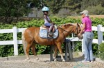 **EXCLUSIVE** Jillian Michaels takes her daughter Lukensia and son Phoenix horseback riding in Santa Barbara