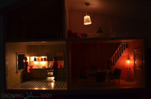 Lundby smaland doll house - house illuminated