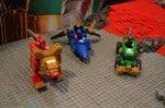 MEGA Bloks Super Megaforce Super mega Jet, Racer and Red Lion Zord