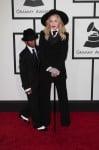 Madonna & son David at the 56th annual Grammy Awards