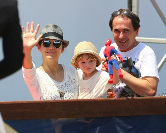 Marion Cotillard with son Marcel Canet in Cannes for the International show jumping