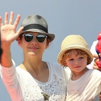 Marion Cotillard and son Marcel Cheer Hubby Guillaume On!