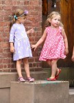 Marion(Loretta) and Tabitha Broderick walk home from school