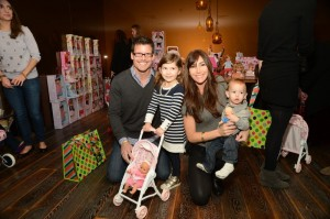 Mark Deklin, Jamie Deklin, Kylie Deklin and Julian Deklin at Santas Secret Workshop
