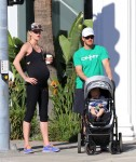 Mark-Paul Gosselaar out and about in Studio City with his pregnant wife Catriona McGinn and their first child son Dekker Edward