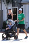 Mark-Paul Gosselaar out and about in Studio City with his pregnant wife Catriona McGinn and their first child, son Dekker Edward
