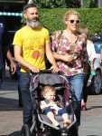 Marc Silverstein and Busy Philipps with daughter Cricket