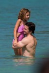 Mark Wahlberg with daughter Ella in Barbados