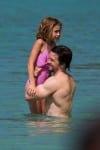 Mark Wahlberg with daughter Ella in Barbados