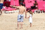 Mark Wahlberg with daughter Grace in Barbados