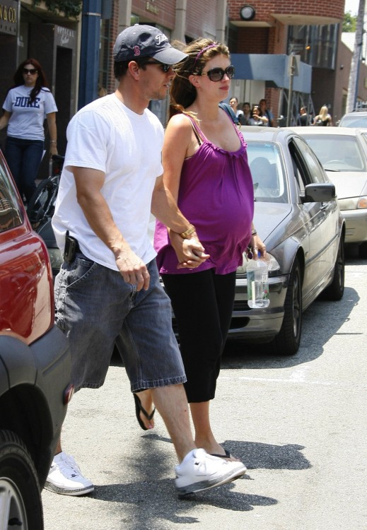 Mark Wahlberg with pregnant wife Rhea out in Beverly Hills