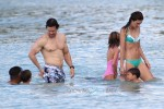 Mark Wahlberg with wife Rhea and kids in Barbados