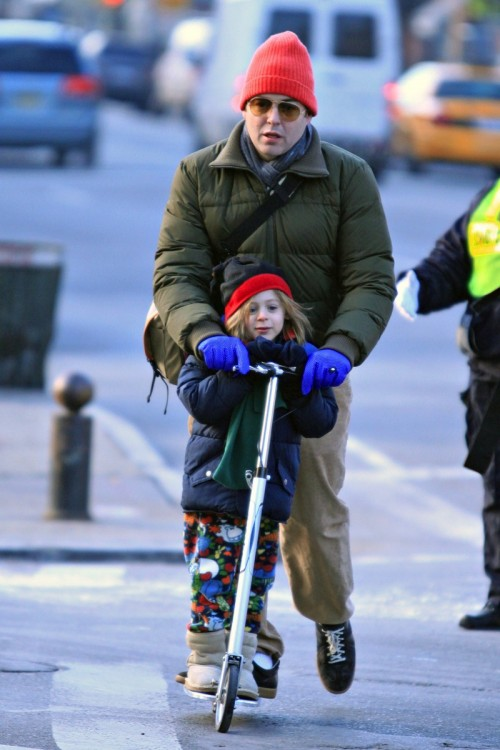 Matthew Broderick scoots with his son James Wilke