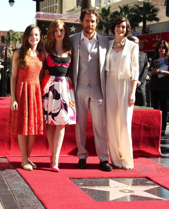 Matthew McConaughey at Walk Of Fame Star ceremony