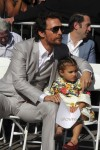 Matthew McConaughey at Walk Of Fame Star ceremony with daughter Vida