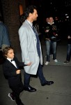 Matthew McConaughey  departs his hotel with son Levi