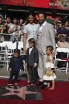 Matthew McConaughey shares his walk of fame star with wife Camila, and kids Levi, Livingston & Vida