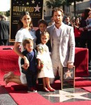 Matthew McConaughey shares his walk of fame star with wife Camila, and kids Levi, Livingston and Vida