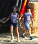 Max and Emme Anthony at Mr. Bones pumpkin patch