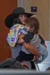 Megan Fox at LAX with son Noah Shannon